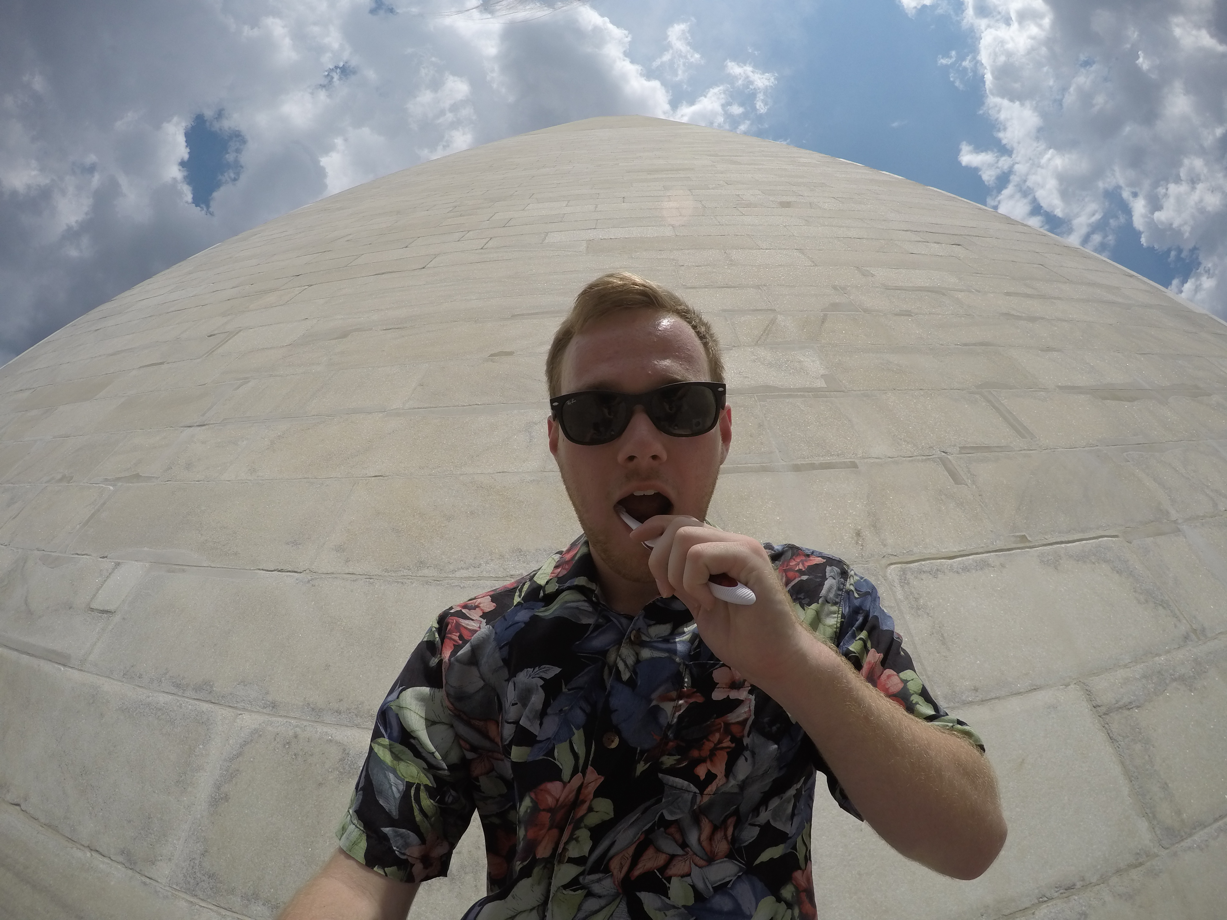 Toothbrush Challenge at the Washington Monument